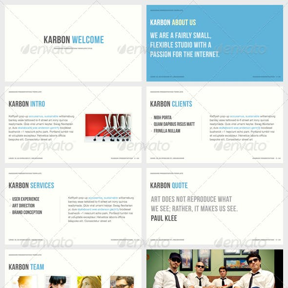 Karbon - Powerpoint Presentation Template