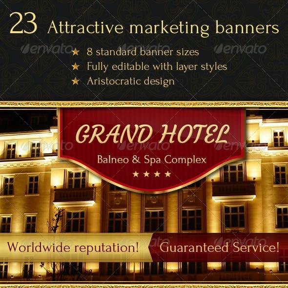 23 Aristocratic Design Banners