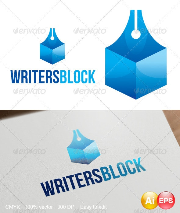 Writersblock Logo - Objects Logo Templates
