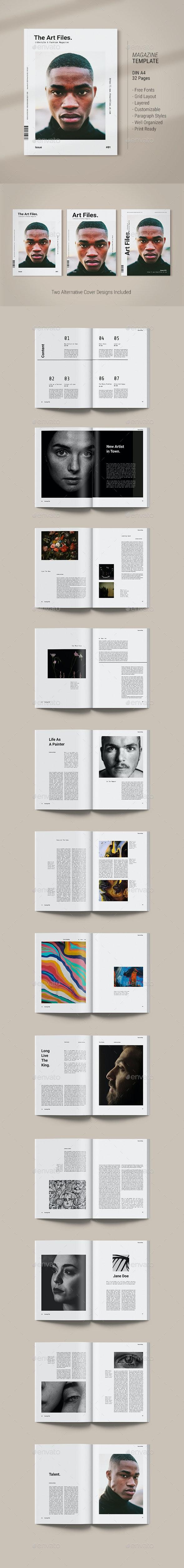 Magazine Template | Art Files - Magazines Print Templates