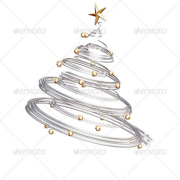Silver Spiral Christmas Tree