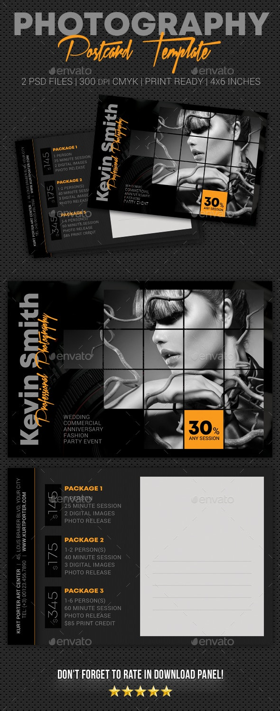 Photography Studio Postcard Template V06 - Cards & Invites Print Templates