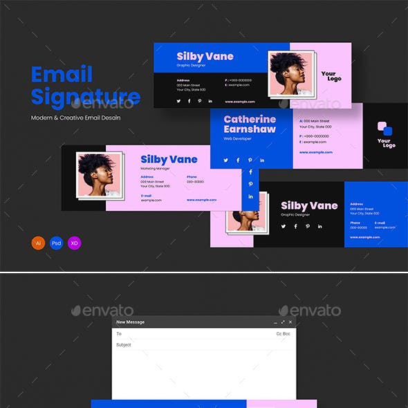 Creative Email Signature Templates