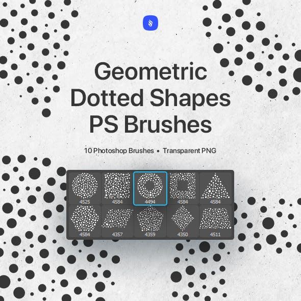 Geometric Dotted Shapes Photoshop Brushes