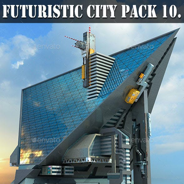 Futuristic City 10. Triangular Architecture