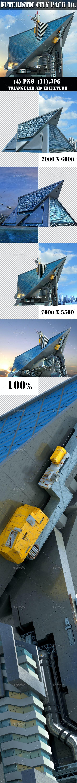 Futuristic City 10. Triangular Architecture - Architecture 3D Renders