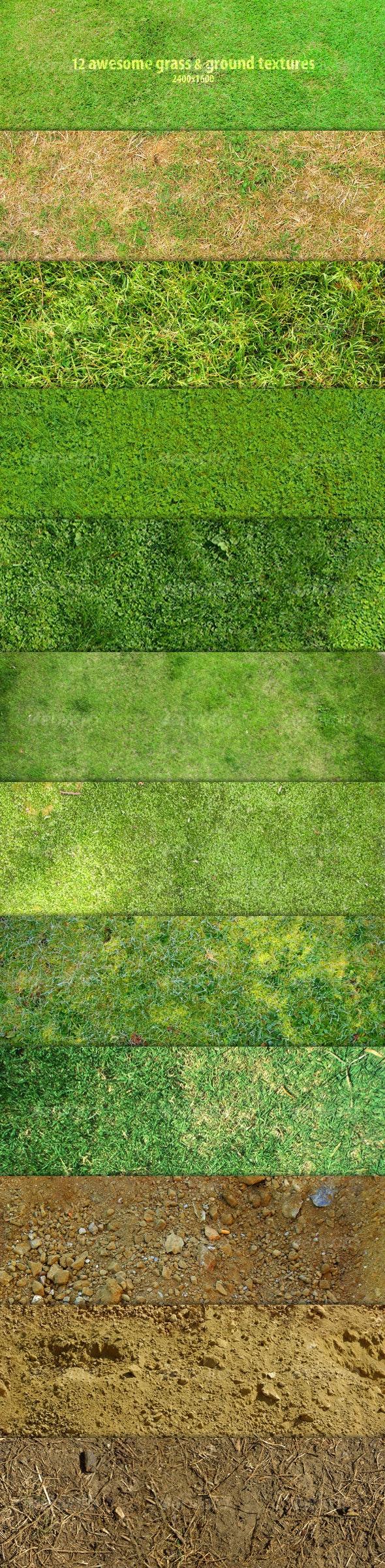12 Grass & Ground Textures - Nature Textures