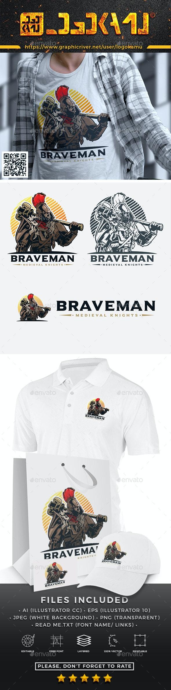 Brave Knights Logo - Humans Logo Templates