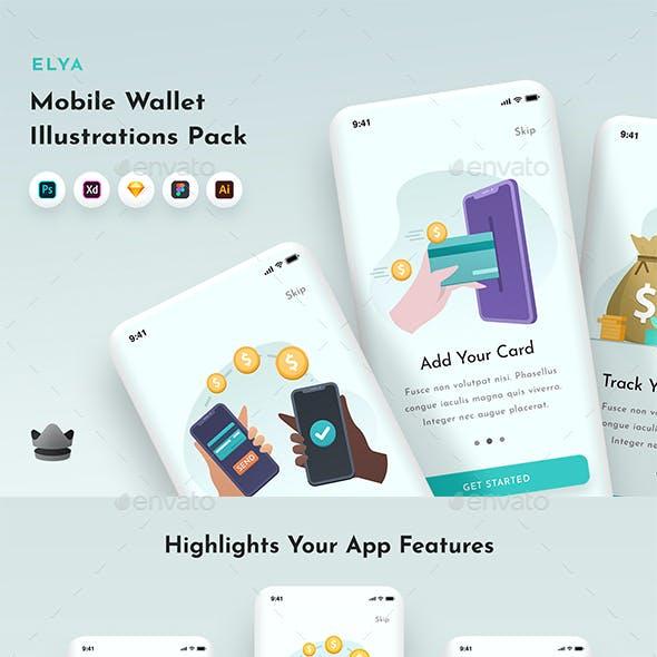 Elya - Wallet & Finance Illustrations Pack