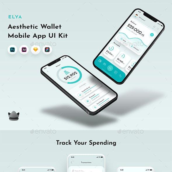Elya - Elegant Wallet & Finance App UI Kit