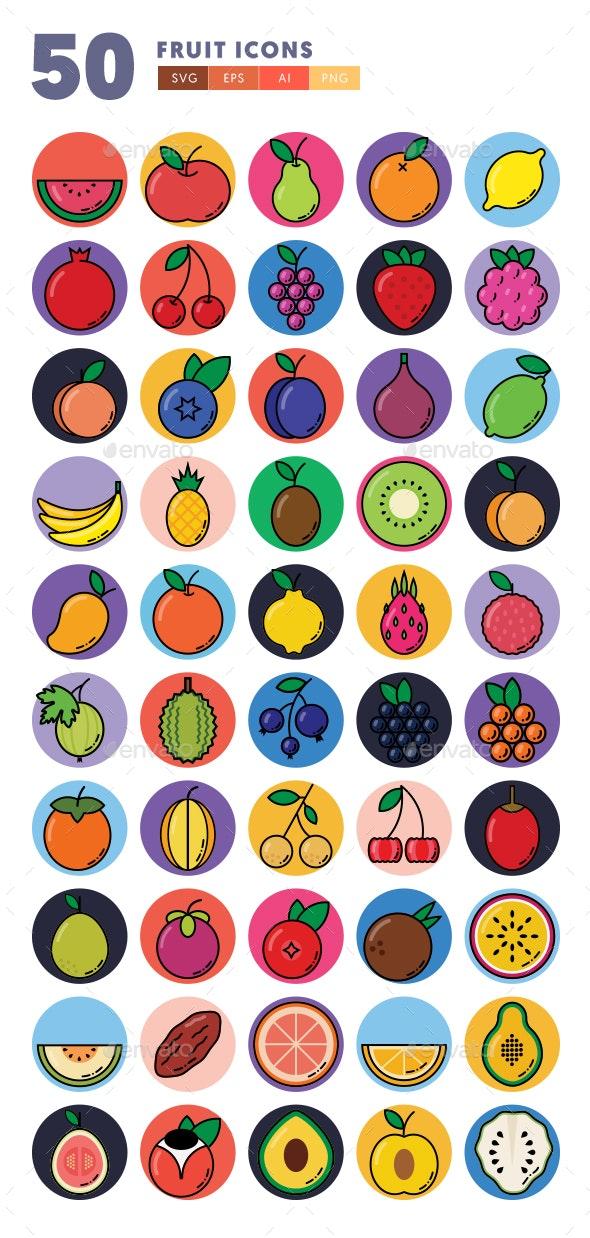 50 Fruit Icons - Icons