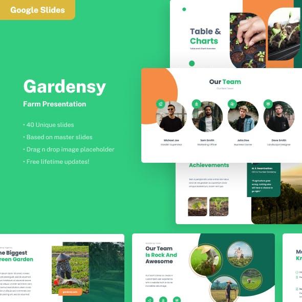 Gardensy - Farm Google Slides Presentation