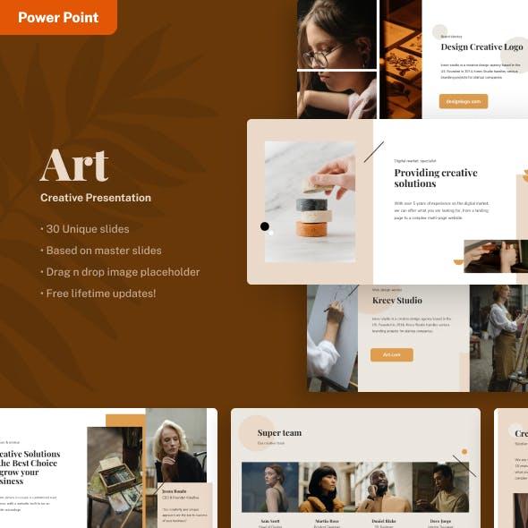 Art - Creative Power Point Presentation