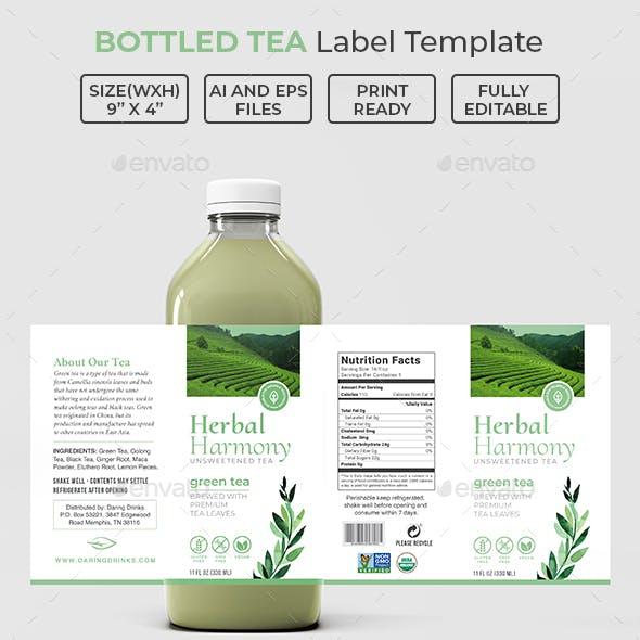 Bottled Tea Label