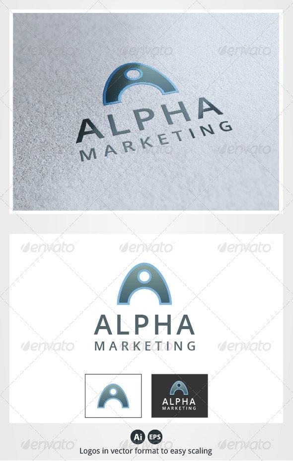 Alpha Marketing A Letter Logo - Letters Logo Templates