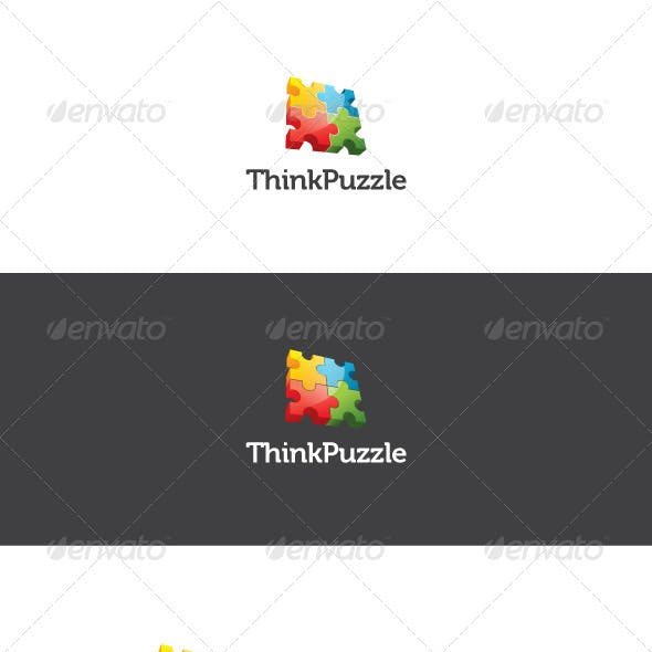 Think Puzzle Logo Template