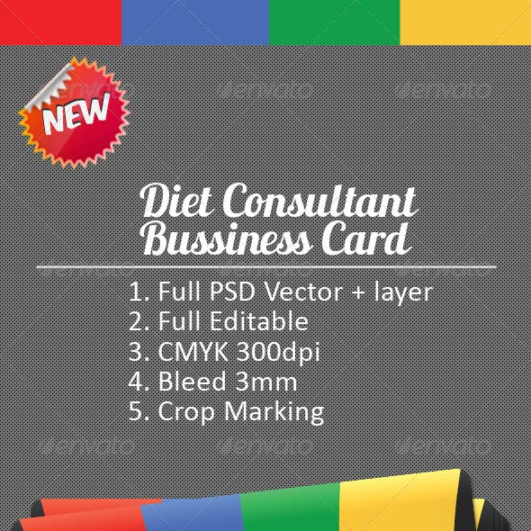 Professional Diet Consultant Bussiness Card