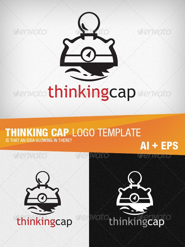 Thinking Cap Logo Template - Humans Logo Templates