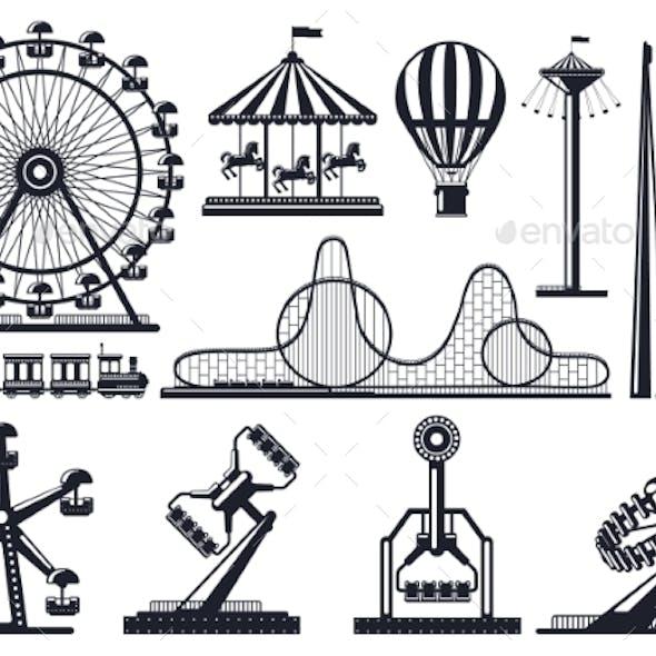 Amusement Park Silhouette