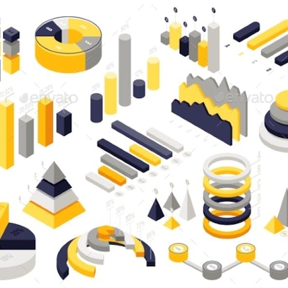 Isometric Infographic Charts