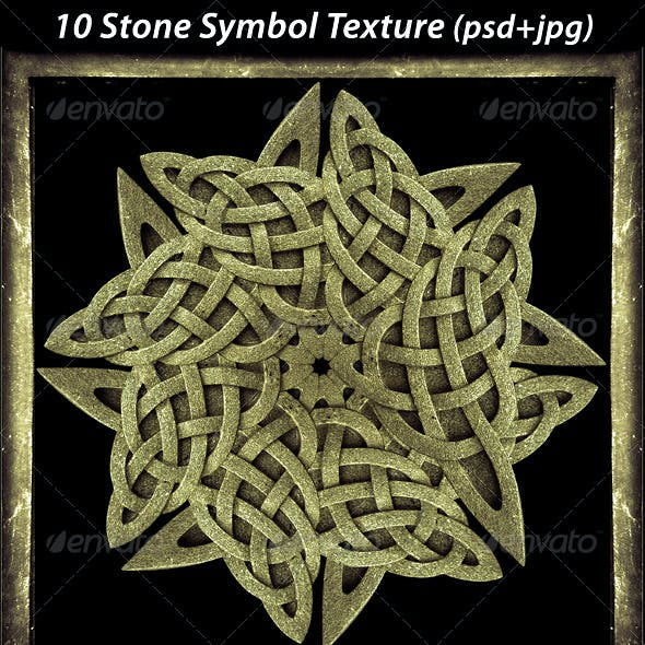 10 Ancient Stone Symbol Texture