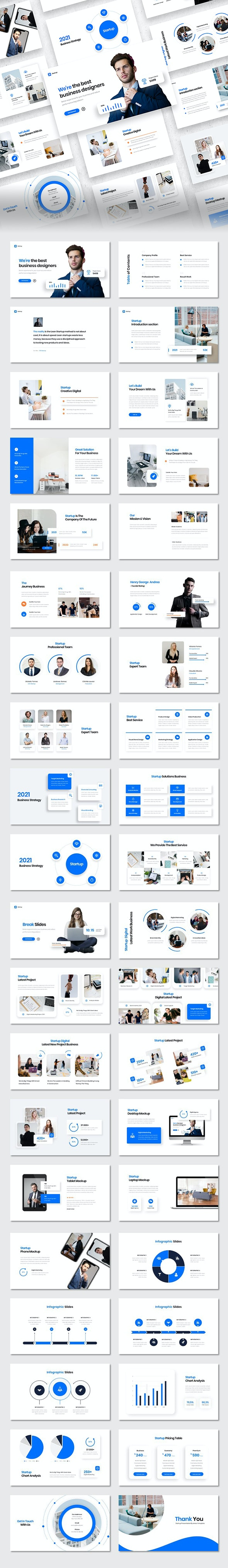 Startup Corporate - Pitch Desk PowerPoint Template - Business PowerPoint Templates