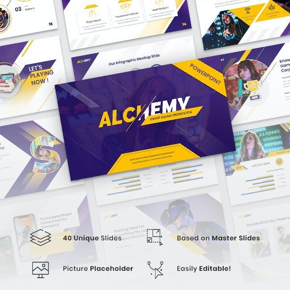 Alchemy - Esport Gaming PowerPoint Template