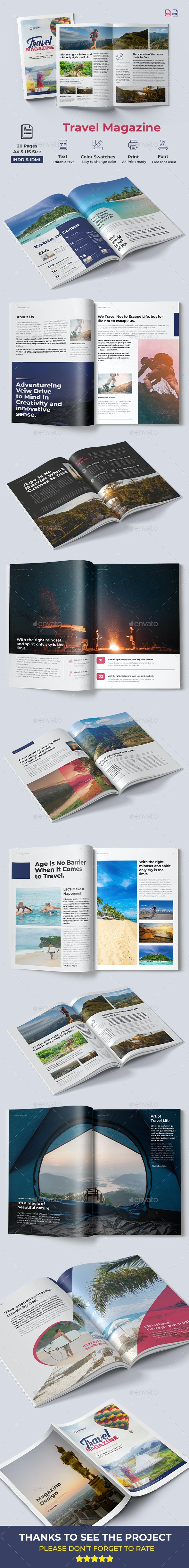 Travel Magazine Design - Magazines Print Templates