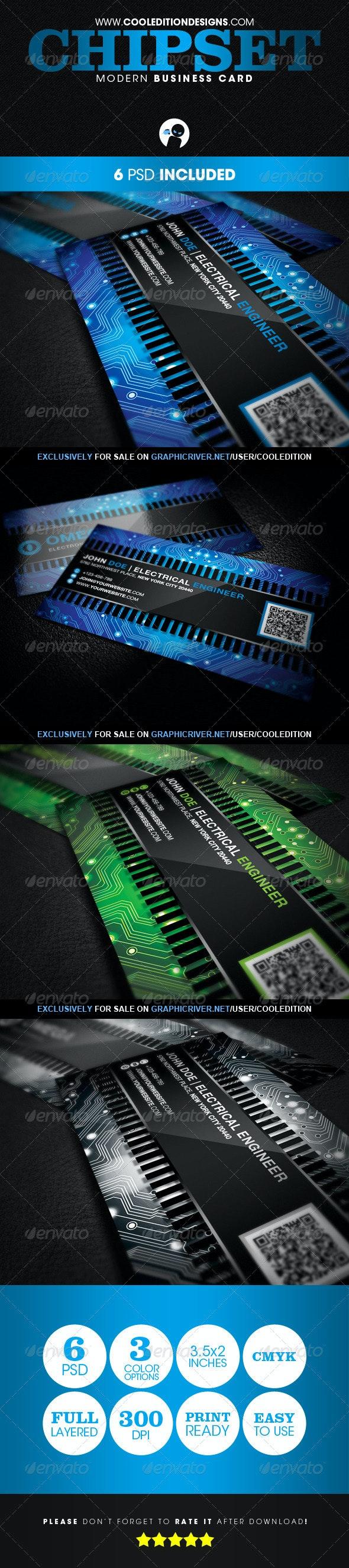 Chipset Modern - Business Card - Creative Business Cards
