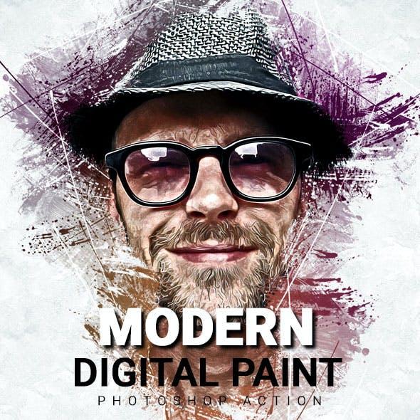 Modern Digital Paint Photoshop Action