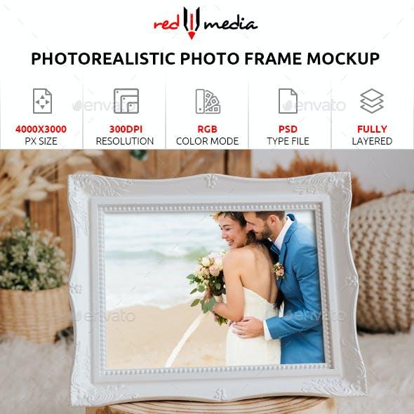 Photorealistic Photo Frame Mockup