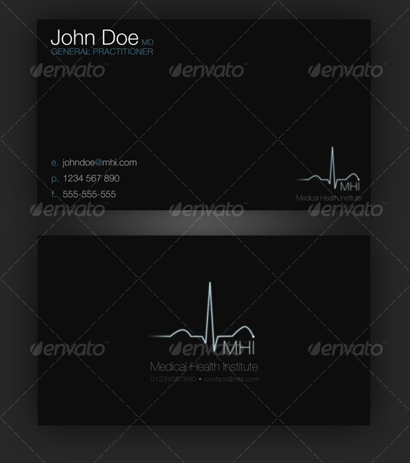 Professional Medical Business Card - Industry Specific Business Cards