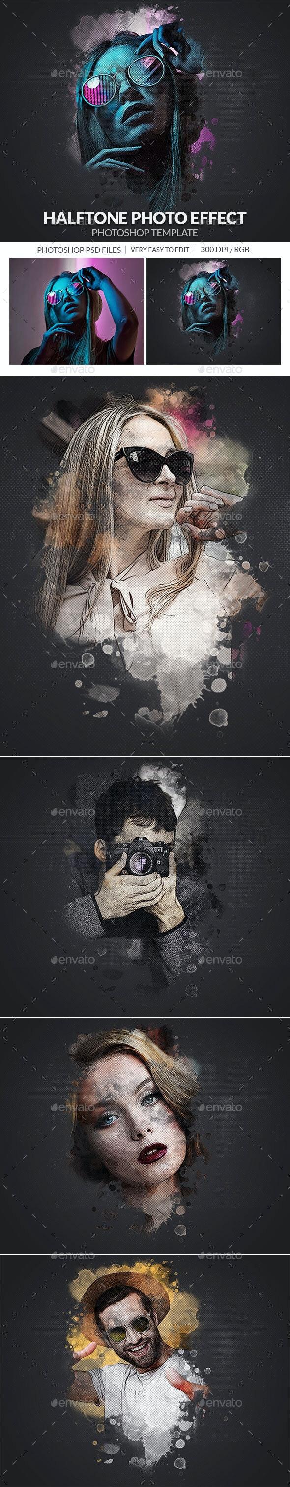Halftone Photo Effect Template - Artistic Photo Templates