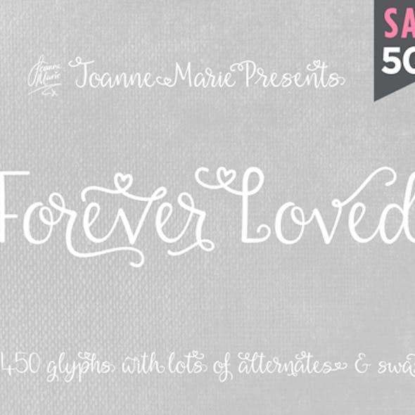 Forever Loved Handwriting swash font