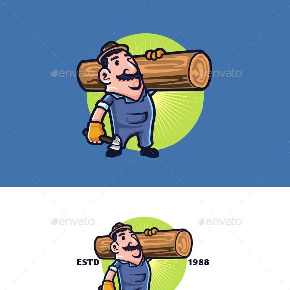 The Carpenter Mascot Logo