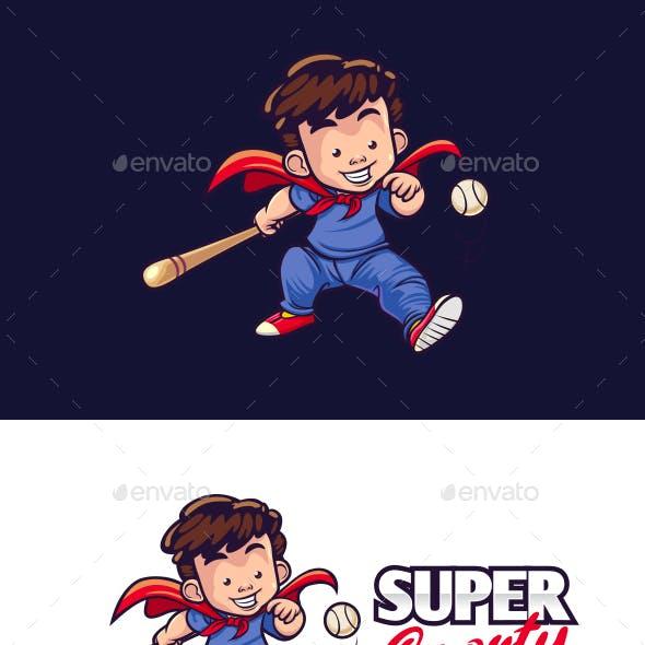 KId Super Sport Mascot Logo