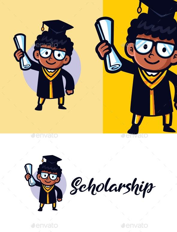 Graduates Mascot Logo - College Logo Templates