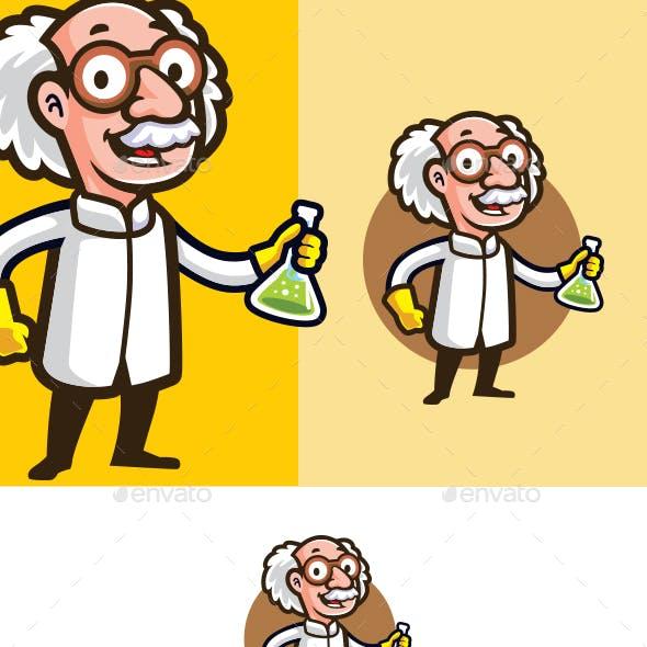Scientist Mascot Logo