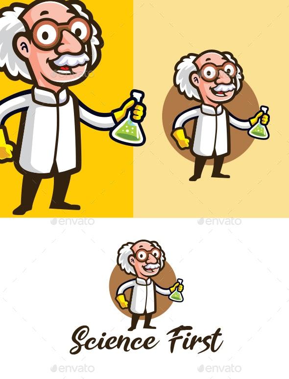 Scientist Mascot Logo - Humans Logo Templates