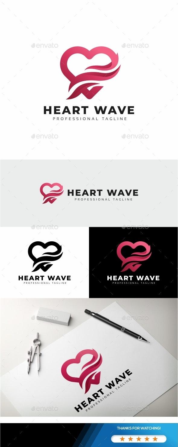 Heart Wave Logo - Symbols Logo Templates