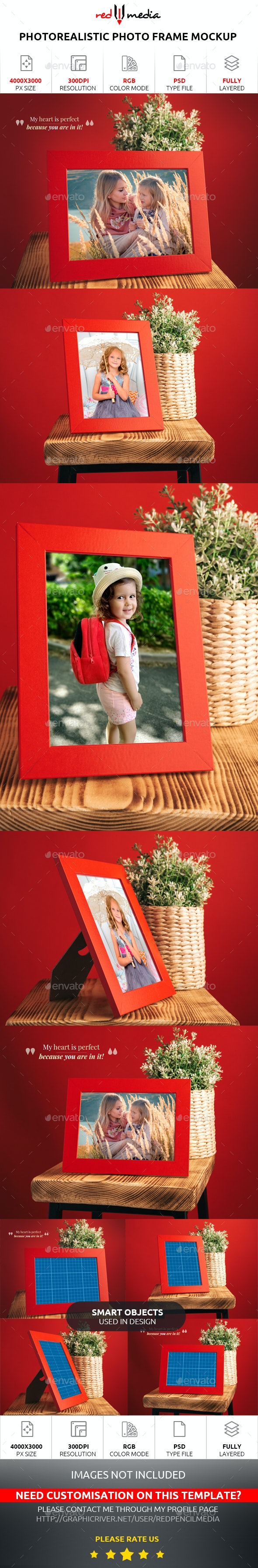 Photorealistic Photo Frame Mockup - Miscellaneous Graphics