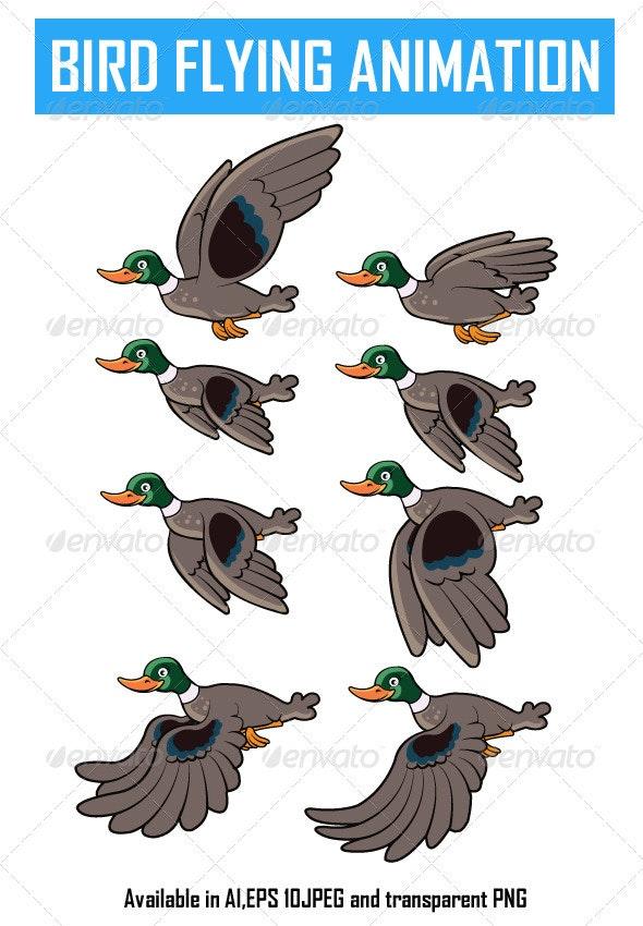 Bird Flying Animation - Sprites Game Assets