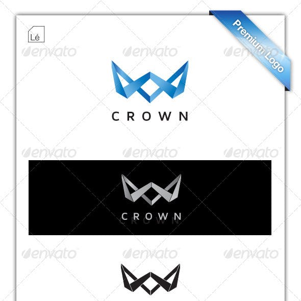 Crown Logo - Letter W Logo - Web Design Logo
