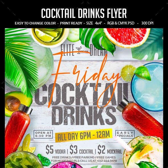 Cocktail Drinks Flyer