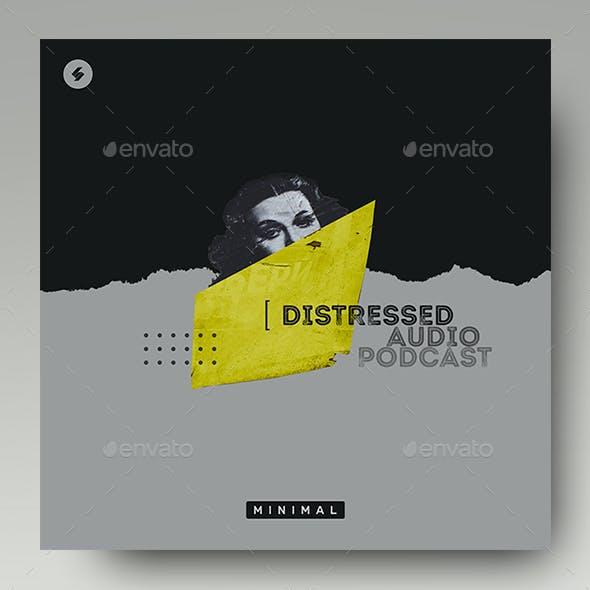 Distressed – Minimal Album Cover Artwork Template