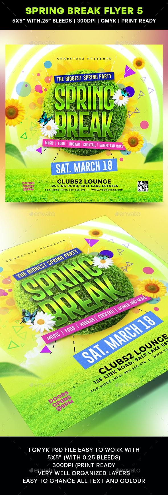 Spring Break Flyer 5 - Flyers Print Templates