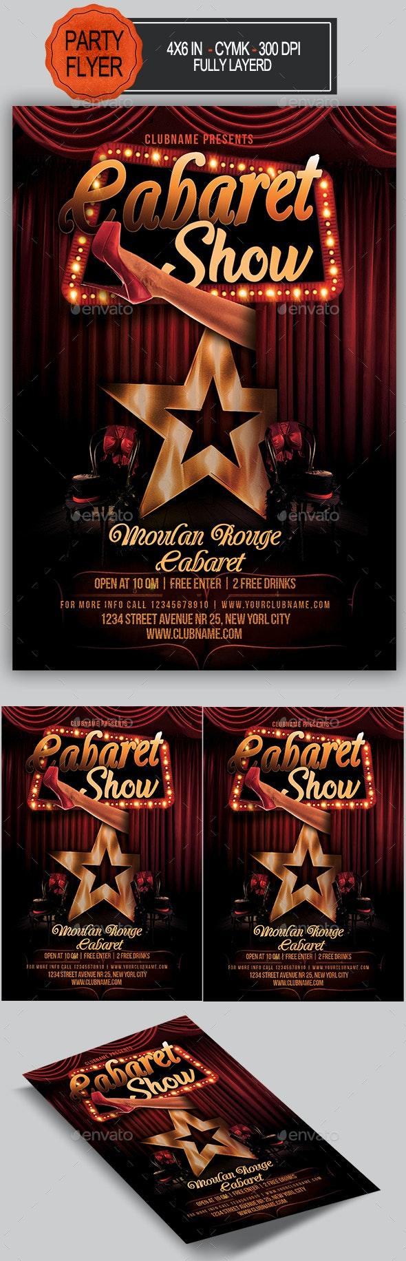 Cabaret Flyer - Clubs & Parties Events