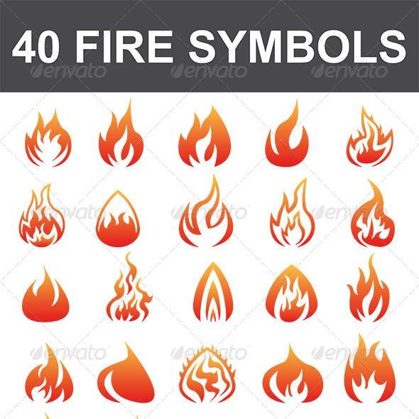 40 Fire Symbols