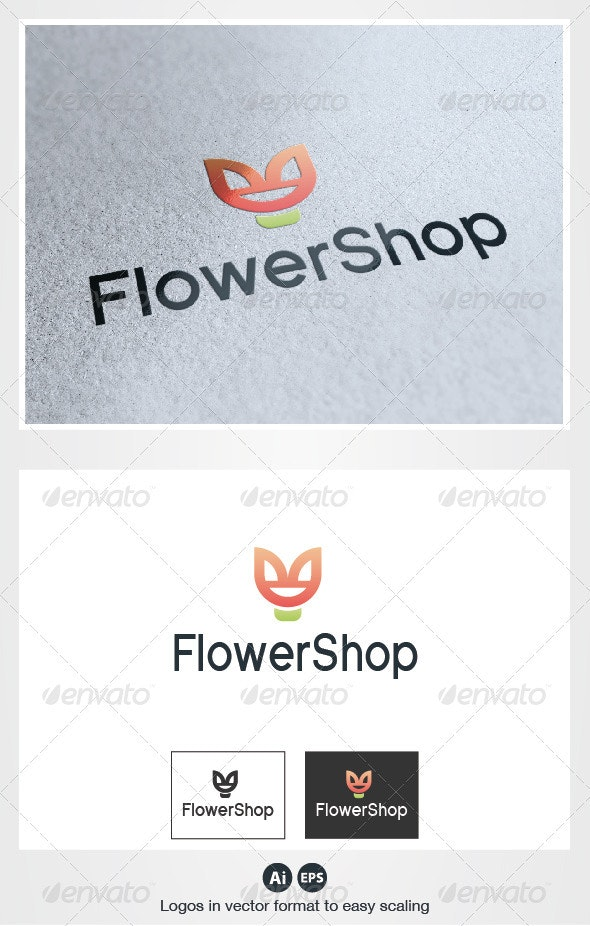 Flower Shop Logo - Nature Logo Templates