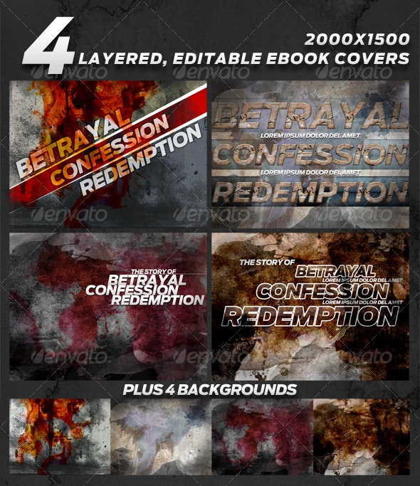 4 layered eBook Covers - Miscellaneous Backgrounds
